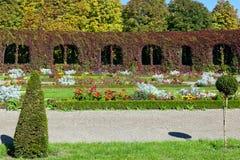jardim formal ajardinado colorido Fotografia de Stock