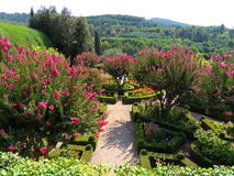 Jardim formal em um montanhês Fotos de Stock Royalty Free