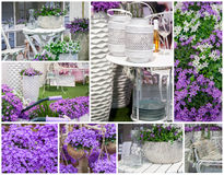 Jardim home da mola Fotografia de Stock