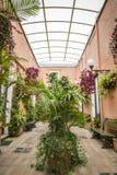 Jardim italiano do terraço imagens de stock