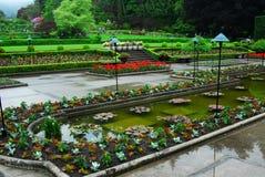 Jardim italiano no peixe-agulha do butchart Fotos de Stock Royalty Free