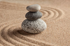 Jardim japonês da pedra do zen Fotos de Stock Royalty Free