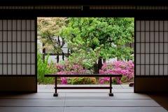 Jardim japonês em Kyoto Fotografia de Stock