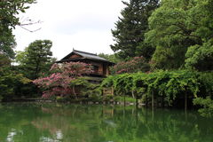 Jardim japonês em Kyoto imagem de stock