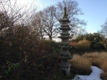 Jardim japonês no inverno Imagens de Stock Royalty Free