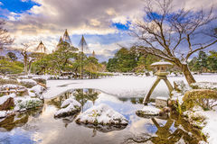 Jardim japonês no inverno Foto de Stock Royalty Free