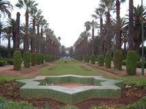 Jardim Manicured em Marrocos Imagens de Stock