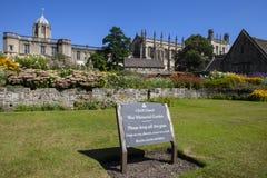 Jardim memorável da igreja de Cristo em Oxford Imagem de Stock
