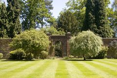 Jardim murado imagem de stock royalty free
