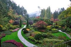 Jardim na névoa imagens de stock royalty free
