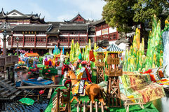 Jardim Newyear de Yuyuan Fotos de Stock Royalty Free