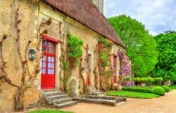 Jardim no castelo de Chenonceau no Loire Valley de França imagem de stock
