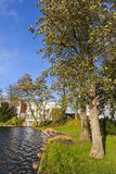 Jardim no centro da cidade de Lubeque, Alemanha Fotografia de Stock Royalty Free