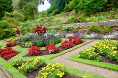 Jardim no final do verão imagens de stock