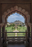 Jardim no forte de Amer fotografia de stock royalty free