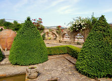 Jardim no palácio em Bulgária fotografia de stock royalty free