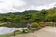 Jardim no templo de Tenryu-ji, Kyoto, Japão Imagens de Stock