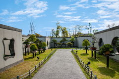 Jardim ocidental delgado dos bonsais do lago Yangzhou Fotografia de Stock