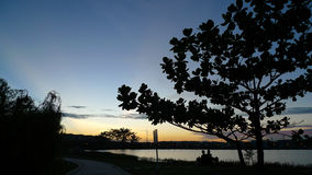 Jardim ocidental do lago Kampar imagens de stock royalty free