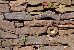Jardim: parede de pedra seca Foto de Stock