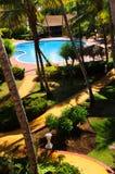 Jardim que ajardina no recurso tropical imagens de stock