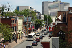 Jardim Rd da mola em Halifax, Canadá Imagens de Stock