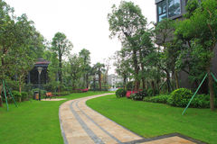 Jardim residencial em China Imagem de Stock