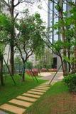 Jardim residencial em China Foto de Stock Royalty Free