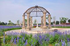 Jardim roxo da alfazema do vale no Pequim Fotografia de Stock Royalty Free