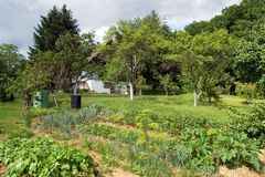 Jardim rural Fotos de Stock Royalty Free