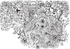 Jardim secreto. ilustração royalty free