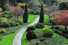 Jardim Sunken Foto de Stock Royalty Free