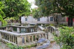 Jardim traseiro da casa de campo do liantang Foto de Stock Royalty Free
