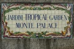 Jardim tropical Monte Palace de Jardim Imagem de Stock