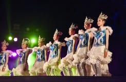 Jardim vermelho 2017 do poinesettia do festival aberto da mostra da dança Imagem de Stock Royalty Free