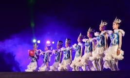 Jardim vermelho 2017 do poinesettia do festival aberto da mostra da dança Fotografia de Stock