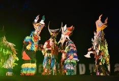 Jardim vermelho 2017 do poinesettia do festival aberto de Phi Ta Khon Dance Show Fotografia de Stock