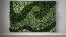 Jardim vertical, design de interiores ilustração do vetor