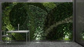 Jardim vertical, design de interiores ilustração stock