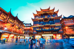 Jardim yuyuan de Shanghai fotografia de stock
