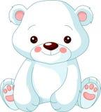 Jardim zoológico do divertimento. Urso polar Imagem de Stock Royalty Free