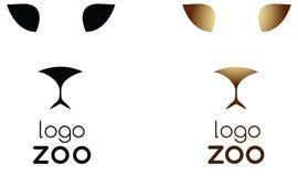 Jardim zoológico do logotipo Foto de Stock