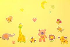 Jardim zoológico dos desenhos animados Fotografia de Stock Royalty Free