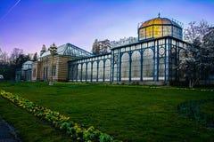 Jardim zoológico histórico Alemanha de Wilhelma da arquitetura da construção de casa de Maurisches Landhaus fotos de stock royalty free