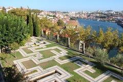 Jardimdos Sentimentos en de Douro-rivier - Porto - Portugal Royalty-vrije Stock Afbeeldingen