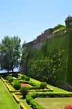 Jardin à Barcelone Photographie stock libre de droits