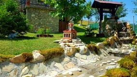 Jardin à la maison de yard Images libres de droits