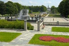 Jardin à Oslo, Norvège Photographie stock