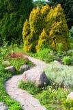 Jardin alpestre photo stock