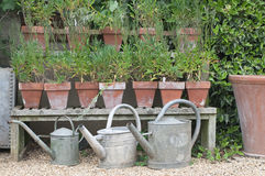 Jardin anglais de maison photographie stock libre de droits
